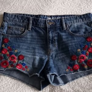 Gap Boyfriend Shorts with Embroidery